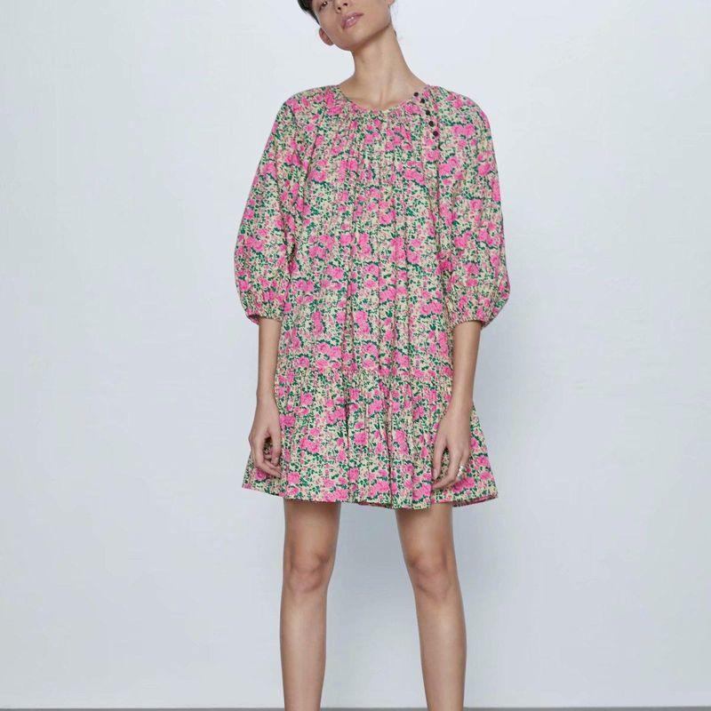 Wholesale new fashion ladies loose printed dress NHAM203379