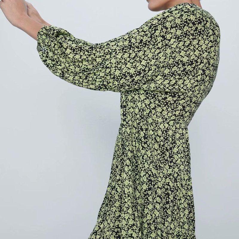 Fashion dress for women wholesale spring loose printed long sleeve dress NHAM203387