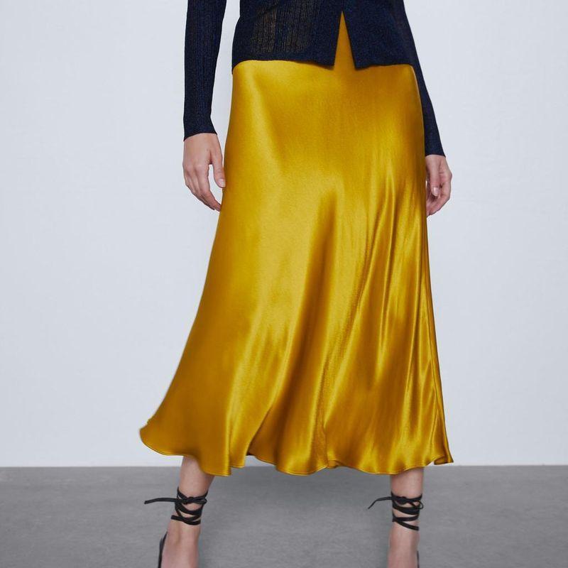 Fashion skirt for women wholesale new silk satin texture skirt NHAM203390