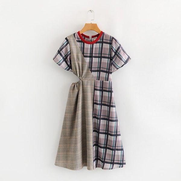 Fashion dress for women new retro plaid dress women wholesale NHAM203392