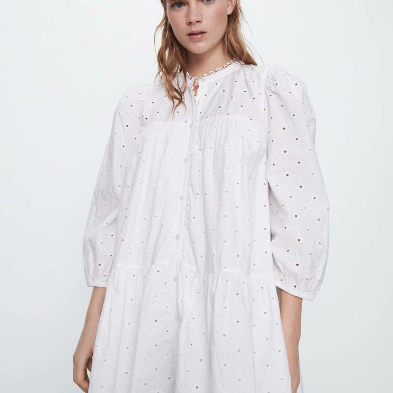 Fashion dress for women wholesale spring openwork embroidered long sleeve dress NHAM203407
