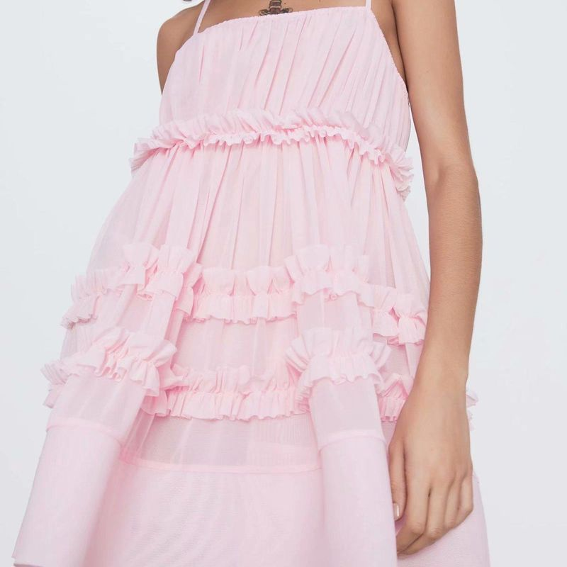 Fashion dress for women wholesale spring tulle stitching dress NHAM203416