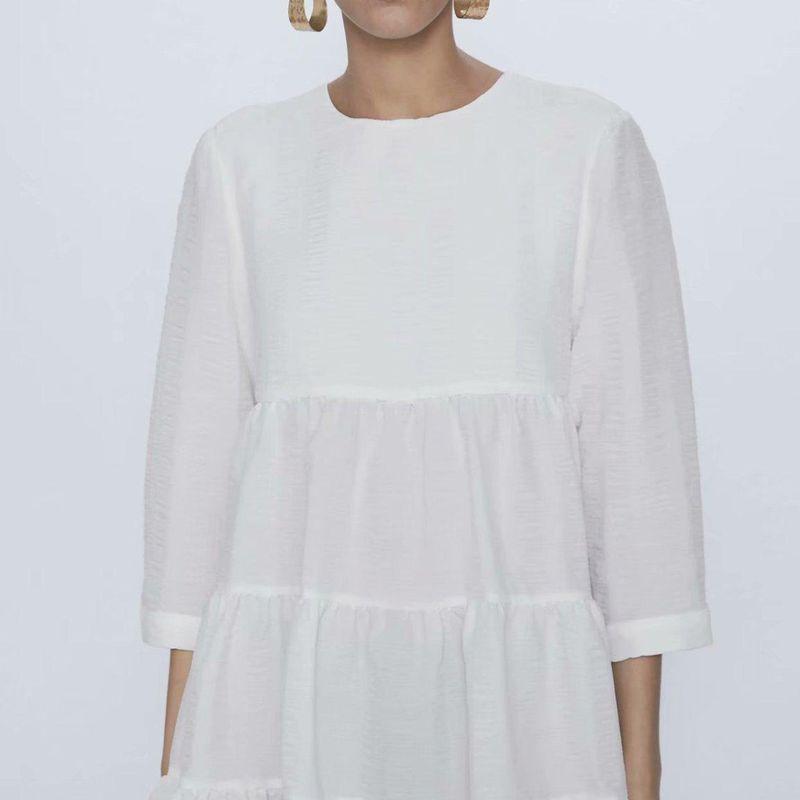 Wholesale Women's Spring New Ruffled Dress College Style Textured Skirt NHAM203432