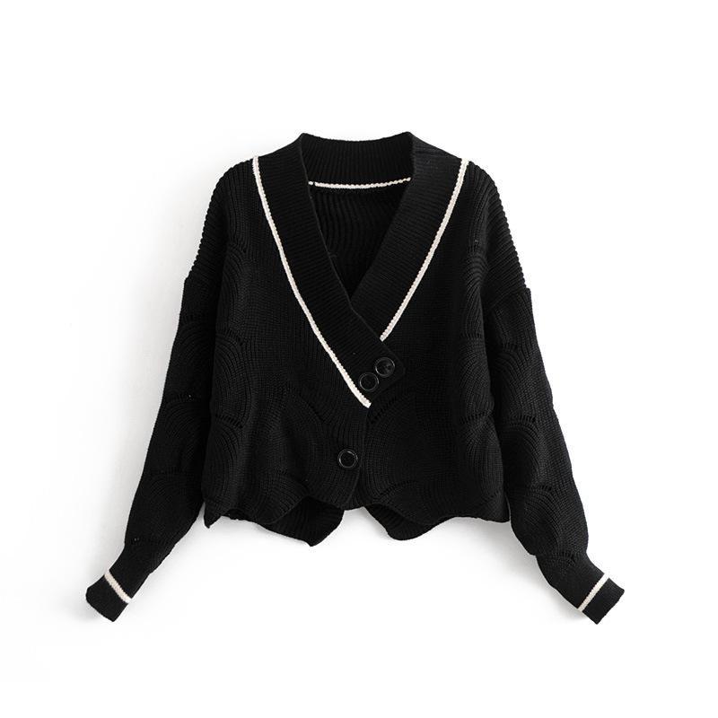 Wholesale yiwu Petal Cutout Knit Cardigan suppliers china NHAM203436