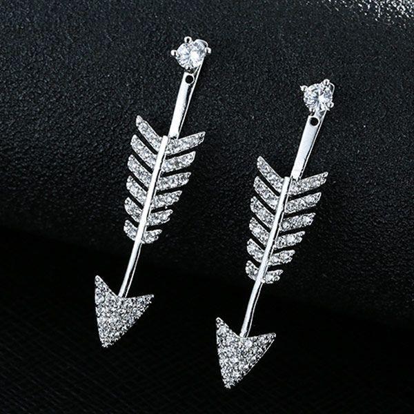 New fashion simple copper zircon stud earrings NHSC203765