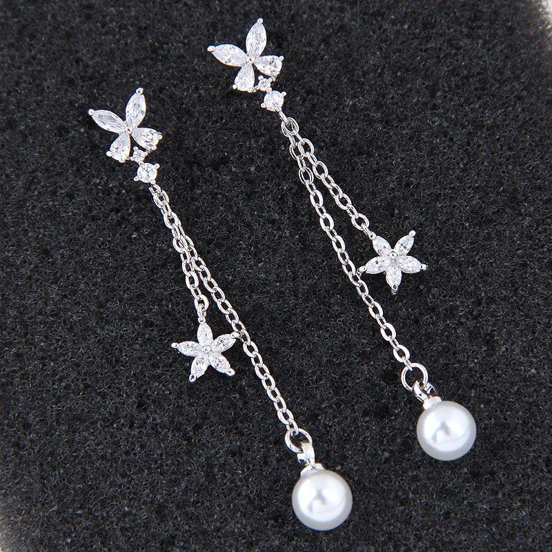 Korean fashion sweet zirconium earrings NHSC203758