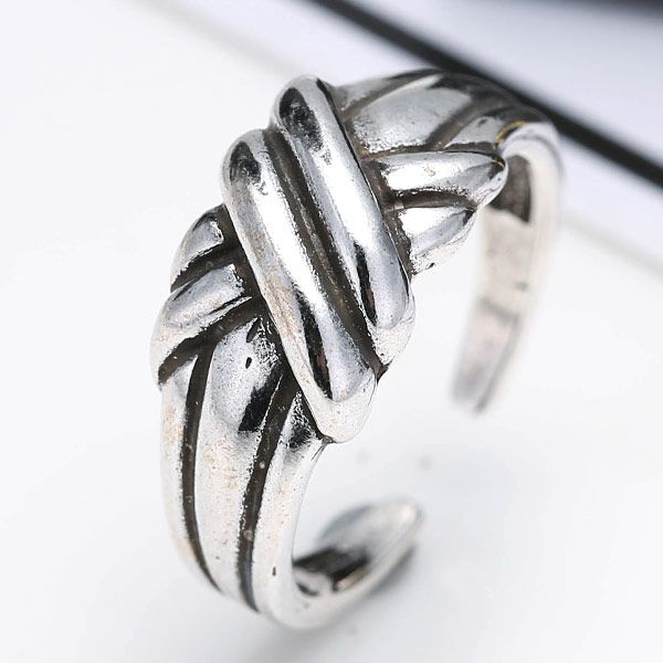 Fashion Metal Imitation Thai Silver Open Ring NHSC203754