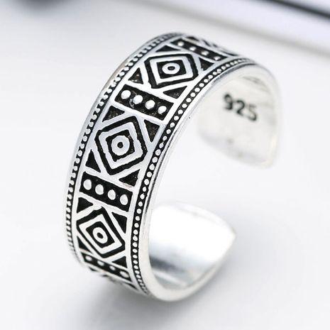 Bague ouverte en argent thaï imitation métal NHSC203753's discount tags