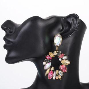 Pendientes de diamantes de aleación de múltiples capas geométricas de moda pendientes largos retro femeninos NHLN203488's discount tags