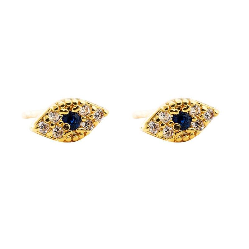 Devil's Eye Earrings Korean Earrings French Copper Plated 18K Gold Plated Color Zircon Earrings NHLN203489