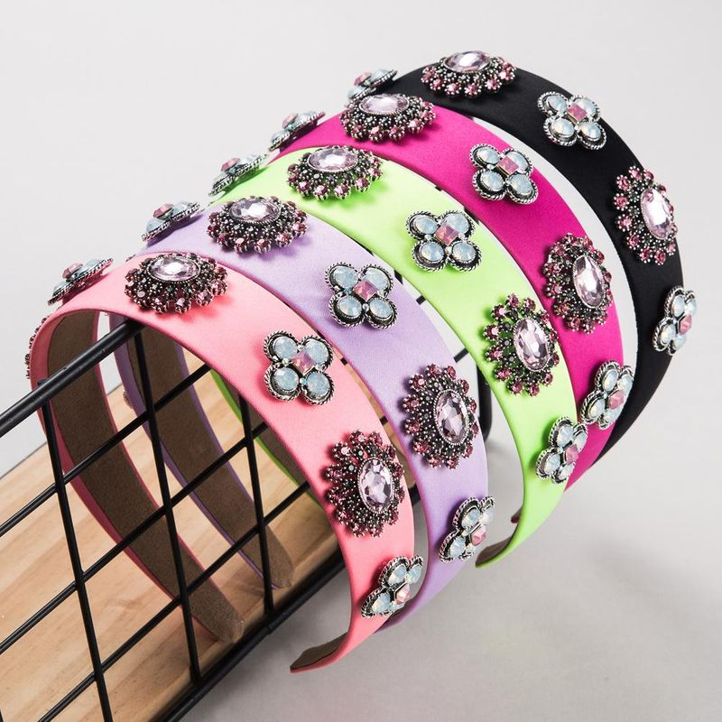 Fashion multicolor cloth rhinestone multilayer glass drill headband NHLN203495