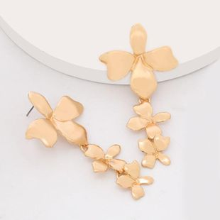 Pendientes de flores cruzadas multicapa exageradas marea pendientes de metal vintage NHJE203503's discount tags