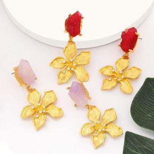 Nuevos pendientes vintage de moda con pendientes de flores de diamantes y cristal en bruto NHJE203504's discount tags