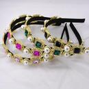 Hoop retro wind baroque rhinestone pearl crystal druna hair hoop NHNT203514