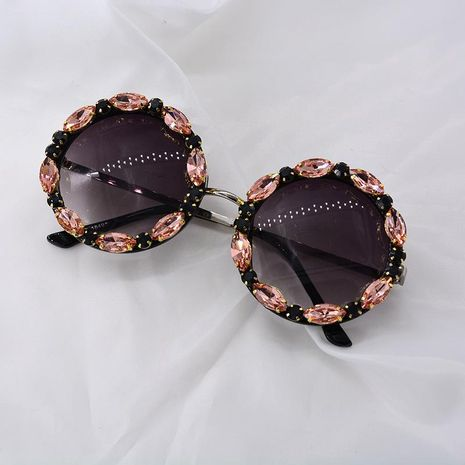 Nouvelles lunettes de soleil coréennes diamant strass femmes lunettes NHNT203532's discount tags
