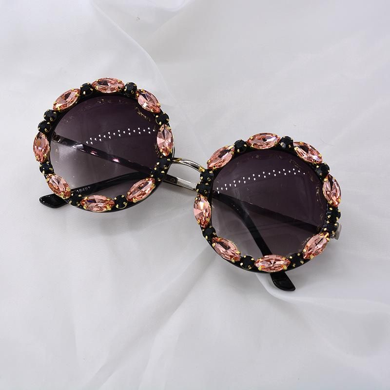 New Sunglasses Korean Diamond Women's Rhinestone Glasses NHNT203532