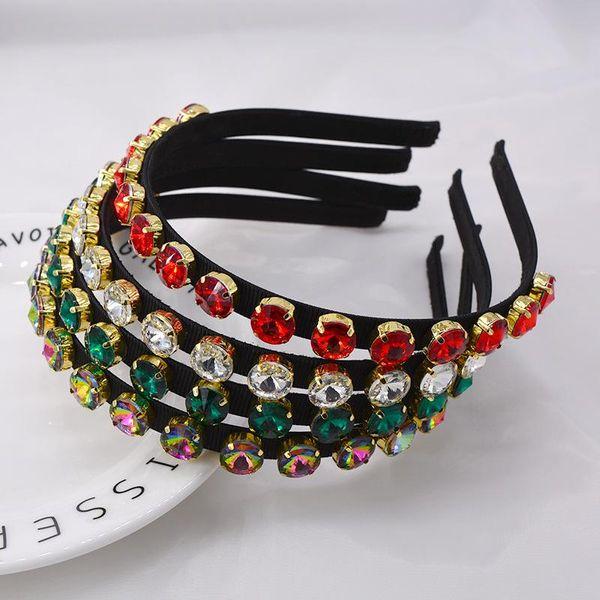 New Korean Baroque Vintage Pearl Diamond Colored Crystals Women's Hair Accessories Headband Headband Hairpin Hairpin NHNT203535