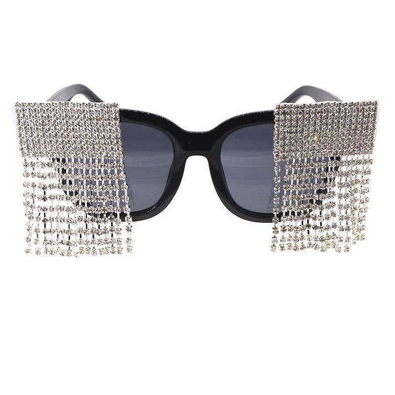 New sunglasses female round face sunglasses female diamond-proof UV-resistant glasses NHNT203538