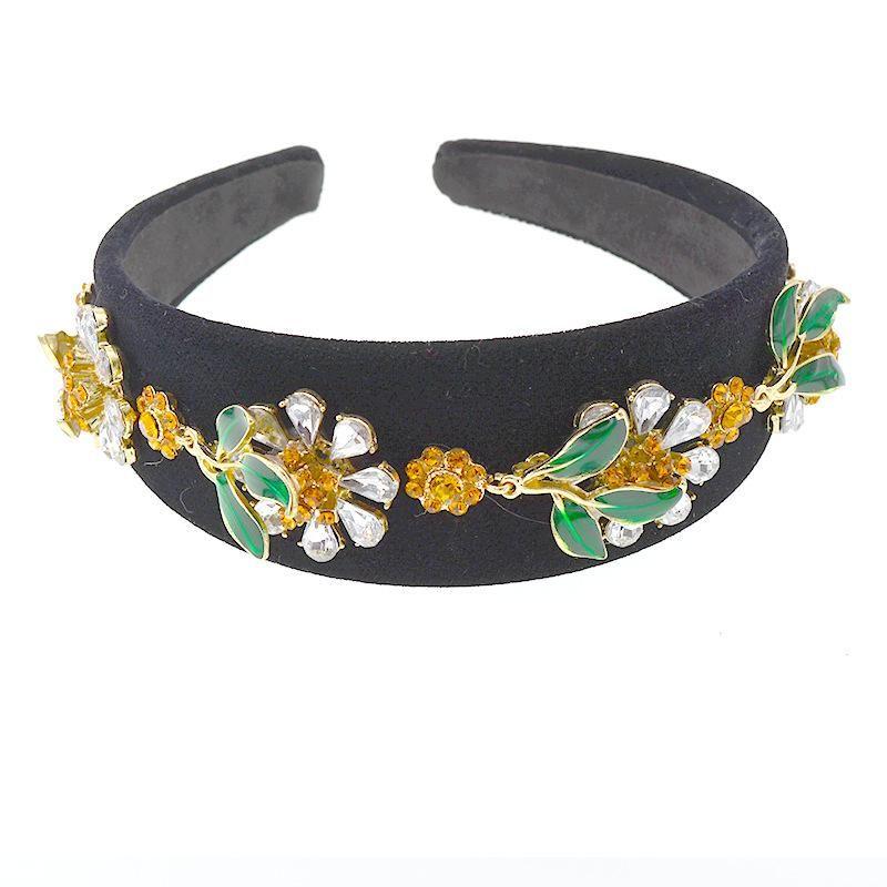 Hair band wide side simple baroque rhinestone headband for women Korean pressure hair NHNT203542