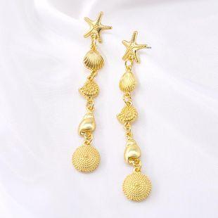Pendientes de moda para mujer pendientes de estrella de mar pendientes femeninos coreanos simples al por mayor NHNT203549's discount tags