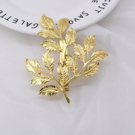 Korean retro golden tree leaf forest wild hair comb hair accessory cheap headdress NHNT203558's discount tags