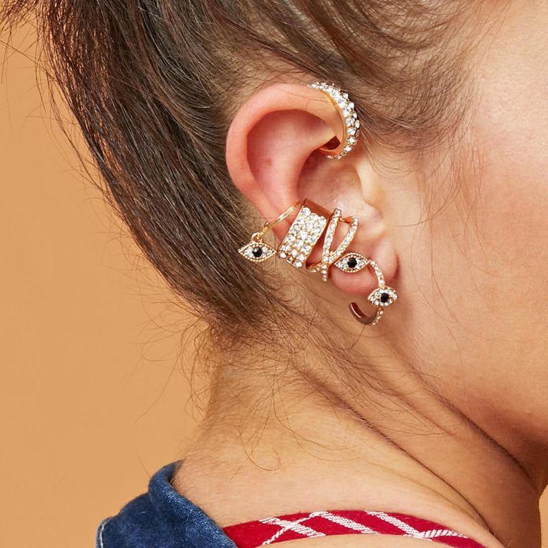 New fashion full diamond eyes ladies 6 piece earrings wholesale NHXR203565