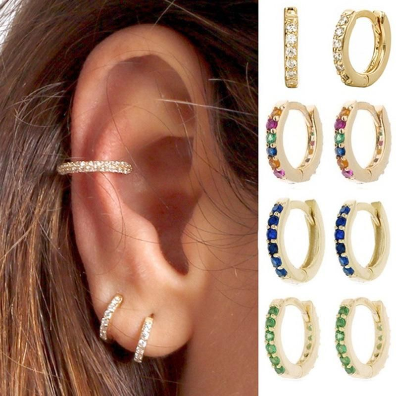 Fashion earrings fine zircon inlaid earrings wholesale NHLL203573