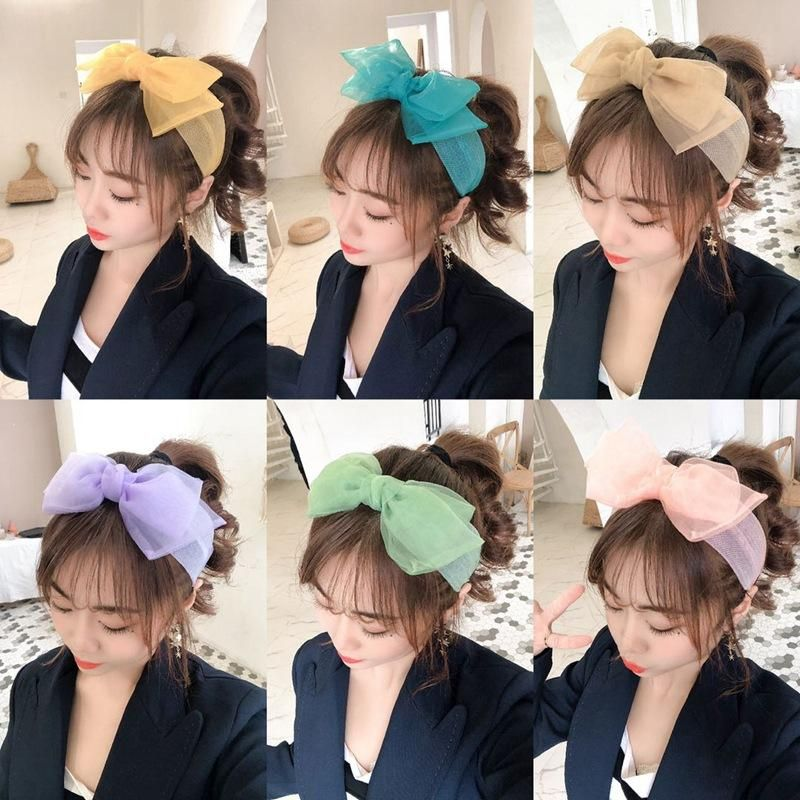 Organza Macaron Plain Bow Hair Accessories wholesales yiwu suppliers china NHHD203595