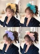Organza Macaron Plain Bow Hair Accessories wholesales yiwu suppliers china NHHD203595