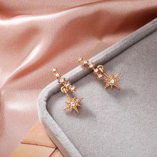 Pendientes de diamantes coreanos pendientes retro pendientes largos de borla de oro para mujer NHPF203611's discount tags