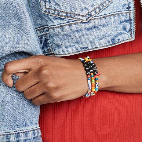 Bohemia love bead elastic bracelet summer beach 3 three-piece bracelet NHPV203621's discount tags