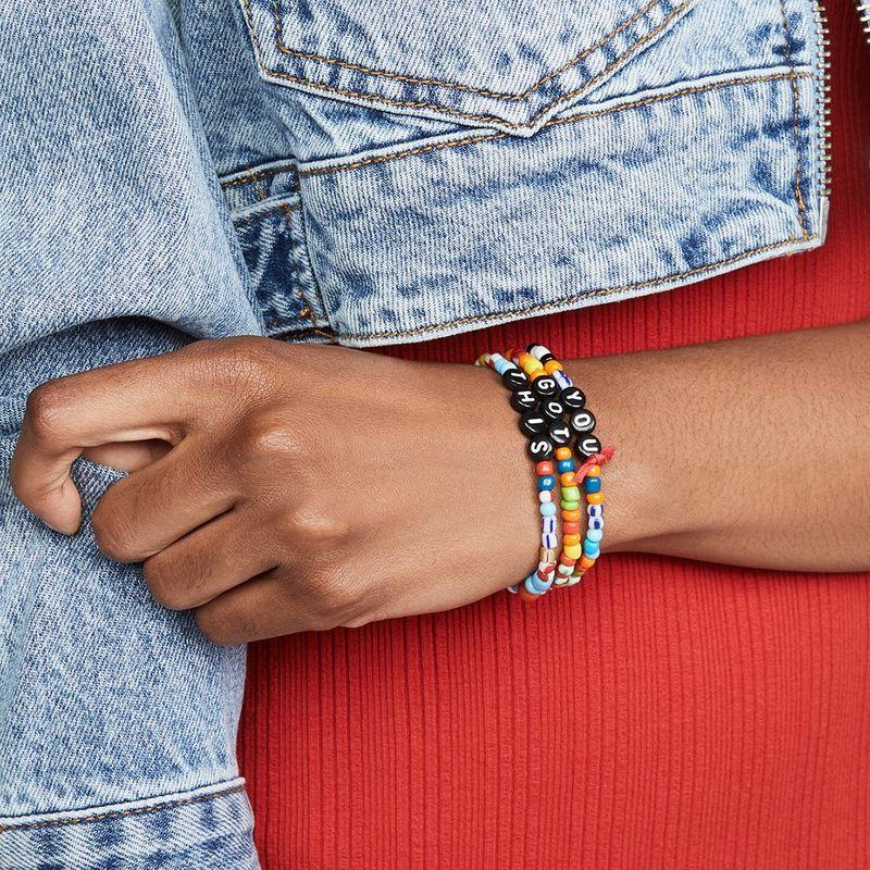 Bohemia love bead elastic bracelet summer beach 3 three-piece bracelet NHPV203621