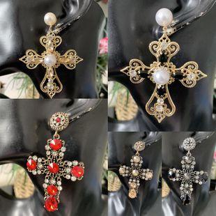 Aretes de diamantes cruzados al por mayor de yiwu proveedores de china NHJJ203626's discount tags