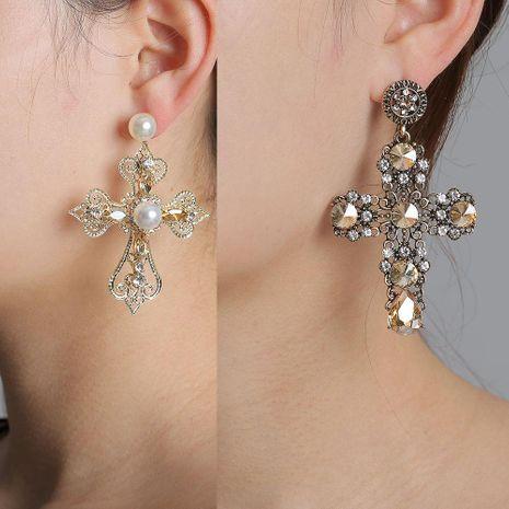 Croix Diamant Boucles D'oreilles pas cher en gros yiwu fournisseurs de mode chine NHJJ203627's discount tags