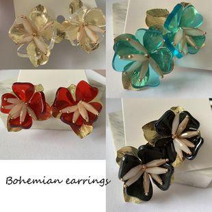 Aretes florales multicapa de moda Bohemia Joyas Pendientes de diamantes NHJJ203628's discount tags