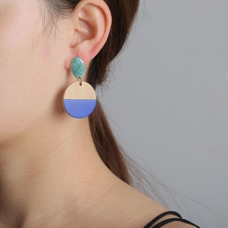 Earrings new geometric wooden earrings for women retro jewelry wholesales yiwu suppliers china NHJJ203632's discount tags