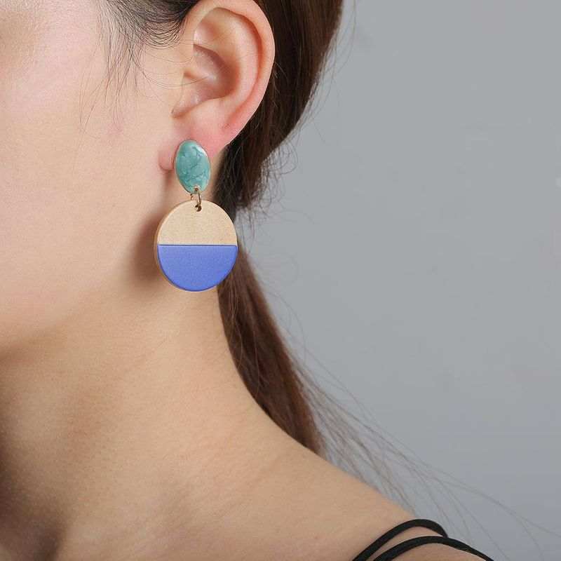 Earrings new geometric wooden earrings for women retro jewelry wholesales yiwu suppliers china NHJJ203632