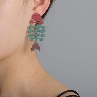 Aretes hipster de espina de pescado para mujer simple acero de titanio moda larga NHJJ203633's discount tags