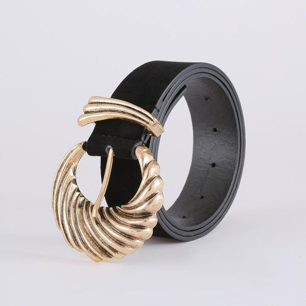Korean fashion suede belt new creative diamond belt women NHJJ203643