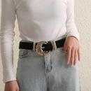 Korean fashion suede belt new creative diamond belt women NHJJ203643