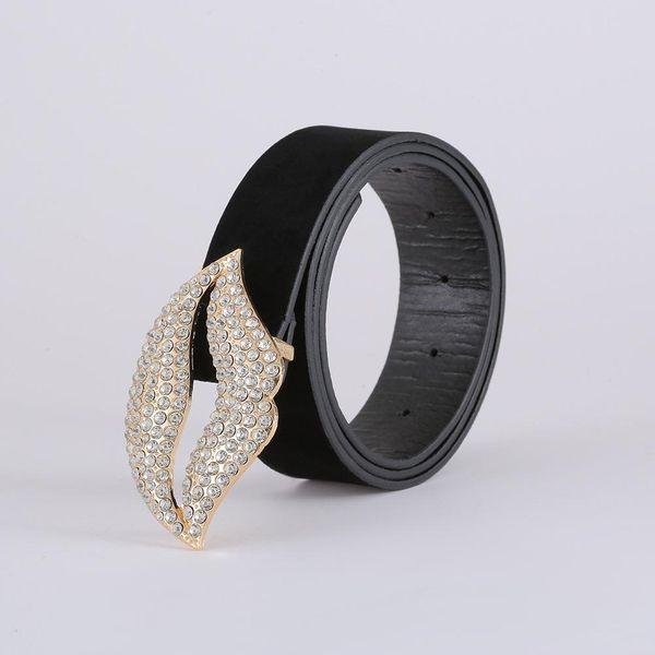Korean fashion suede belt cross-border new creative diamond belt women NHJJ203644