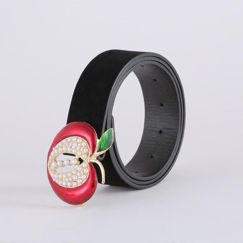 Korean fashion suede belt new creative apple belt women NHJJ203645
