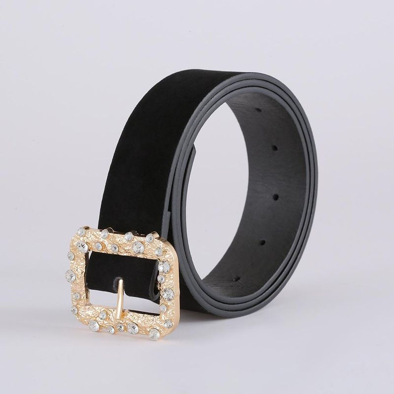Korean fashion suede belt new creative diamond belt women NHJJ203646