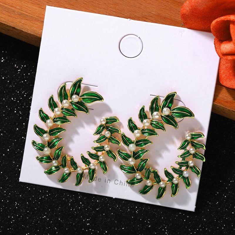 Bohemian Botanical Pearl Earrings New Fashion Vacation Party Earrings NHJQ203649