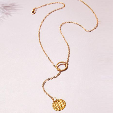 New Tassel Lasso Necklace Creative Retro Simple Clavicle Chain NHPJ203676's discount tags