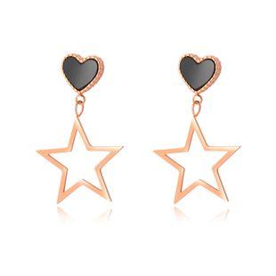 Vintage Love Ear Studs Geometric Hollow Star Pentagram Pendientes NHOP203709's discount tags