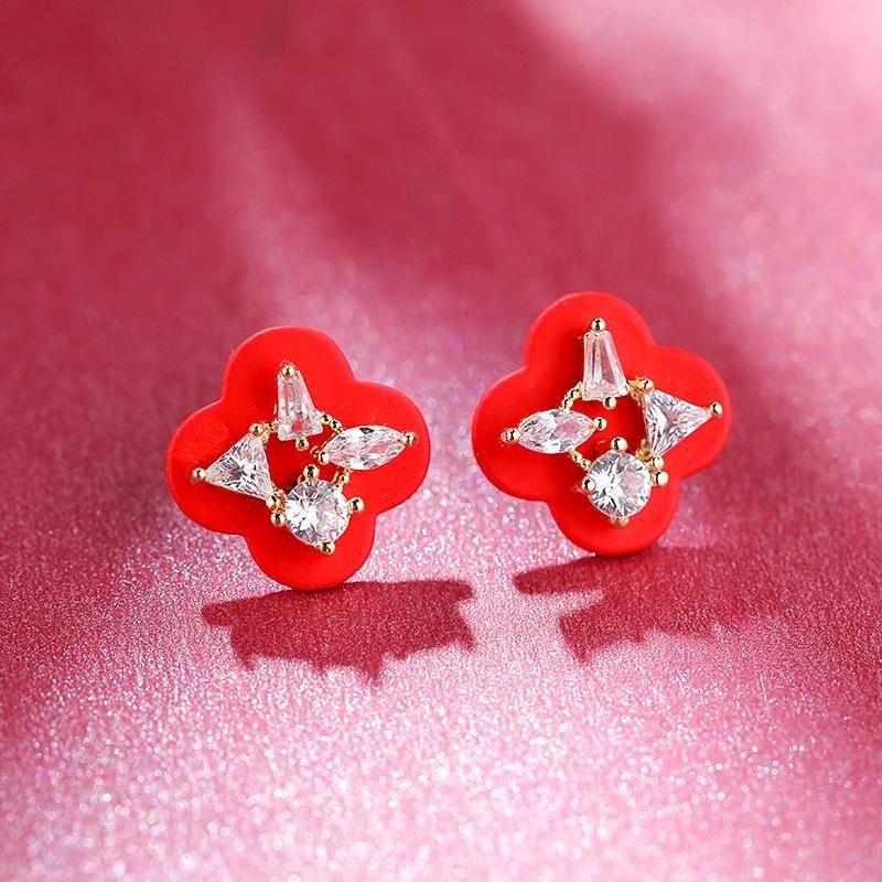 Candy color cute alphabet simple earrings sexy earring earrings NHPP203726