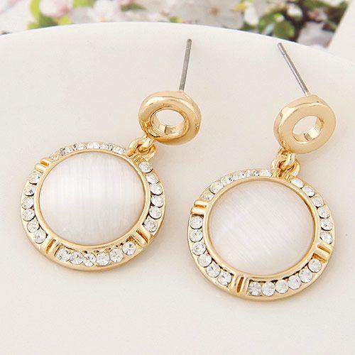 Korean Fashion Sweet Simple Opal Stone Ear Studs Wholesale NHSC203836