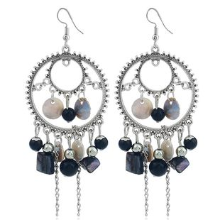 Fashion Metal Simple Wild Shell Tassel Earrings Wholesale NHSC204352's discount tags