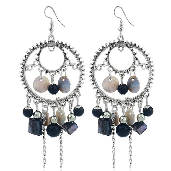 Fashion Metal Simple Wild Shell Tassel Earrings Wholesale NHSC204352